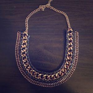 Tri-Colored Metallic Necklace