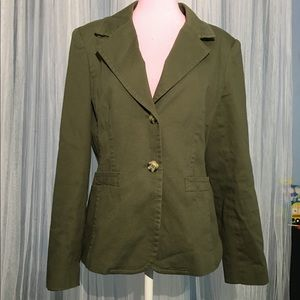 Chadwicks of Boston olive green suit jacket blazer