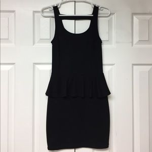 2/$10 Black dress with peplum