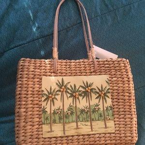 Sun and Sand Straw Handbag. NWOT