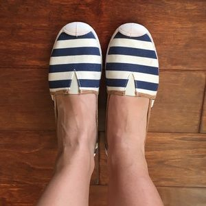 Celebrity Pink navy and white slip on shoes