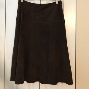 Jcrew suede skirt