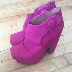 Jeffrey Campbell What Pink Heel Size 6