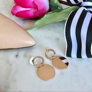 Jewelry - 🎁2 for $24! Rose Gold Drop Earrings