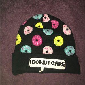 """I Donut Care"" beanie"