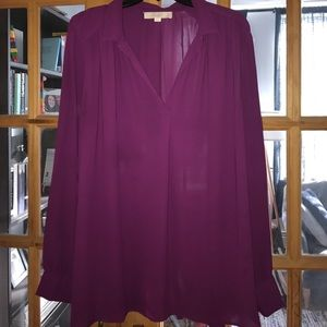 Purple shirted blouse