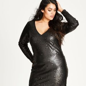 NWOT City Chic Sequin Dress