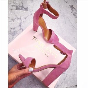 Shoes - Coming soon 💕 Mauve Thick Strap Ankle Heels