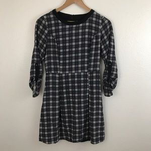 Skies are Blue Stitch Fix Plaid 3/4 Sleeve Dress