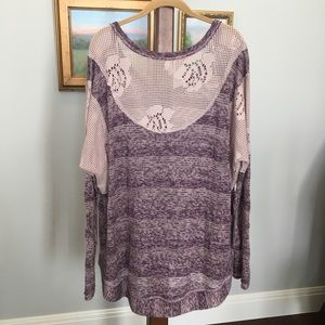 NWOT We The Free Lace Back Sweater size L