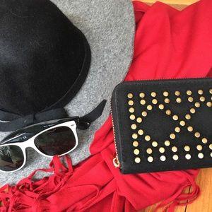 Handbags - Gold Embellished-wallet 🍁