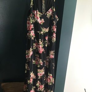 Floral long dress from forever 21