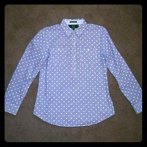 C wonder polka & striped shirt