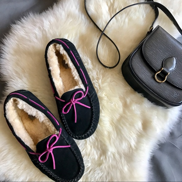Ugg Dakota Black Pink Slipper 5