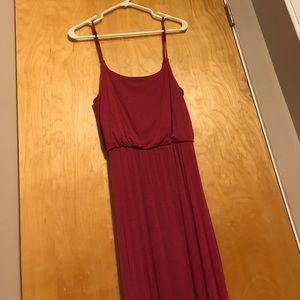 Dusty Maroon Maxi Dress