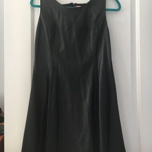 Romeo & Juliet leather a-line dress
