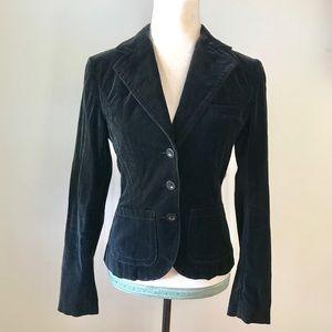 Luxurious Black Velour Blazer