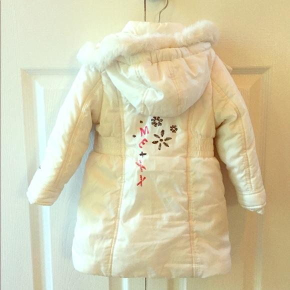 37209c8e4 Mexx Baby Girl White Winter Coat. Removable Hood. M_59c6d104f09282ceb100c55e