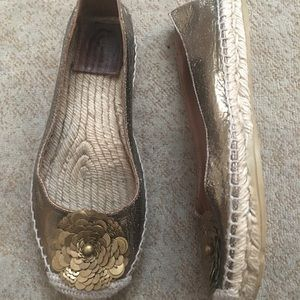 Tory Burch leather espadrilles!
