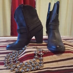 Gray Ankle Cowboy Boot