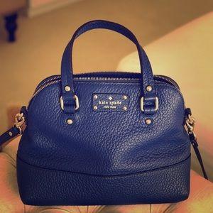 KS small blue satchel
