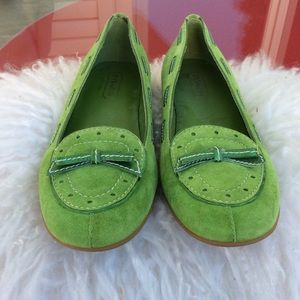 Coach amazing suede loafers only tried on once