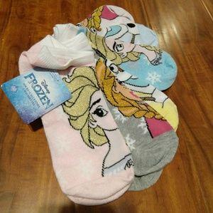 NWT 6 Pack Disney Frozen Anna Elsa Olaf Socks