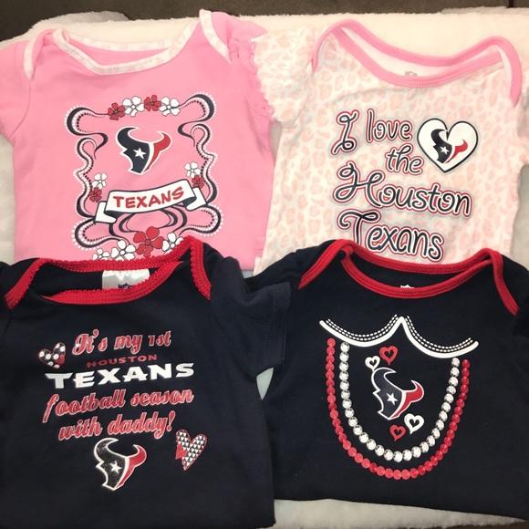 e7709ba9 Houston Texans Baby Girl Onesie Lot (4)