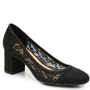 × CL by laundry × Lace Chunky Heel Pumps