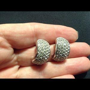 Stunning Ch. Dior Crystal Earrings