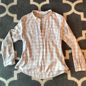 Madewell grey and white flannel