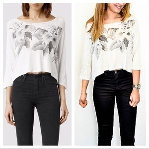 All Saints Kyo Yale cropped top