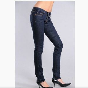 """J Brand """"the deal"""" ankle zip dark wash jeans"""