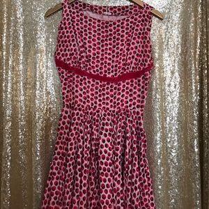 🎉Final Markdown!VINTAGE Cranberry FitNFlare Dress