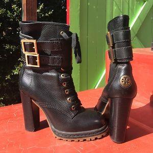 Tory Burch High heeled Combat boots
