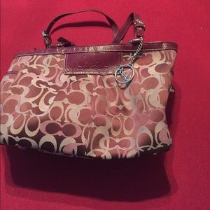 Large Coach Optic Gallery Tote