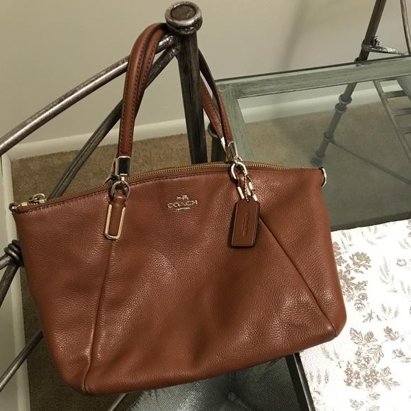 Coach Handbags - Authentic coach medium Kelsey satchel (saddle)