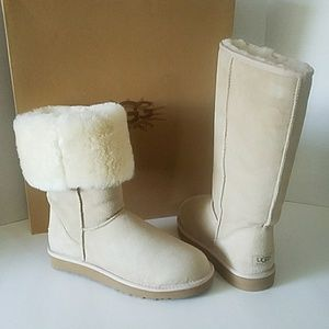 UGG CLASSIC TALL SAND BOOTS WOMENS