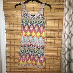 Bright Aztec print dress