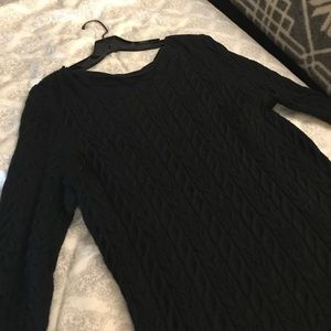Black Ralph Lauren sweater dress.