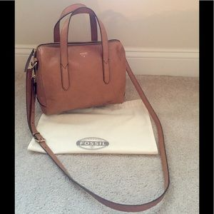 Fossil Sydney Leather Satchel, camel