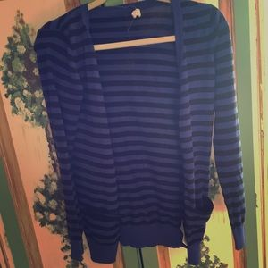 Black and blue striped cardigan