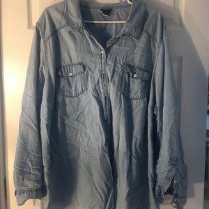 Torrid light denim shirt