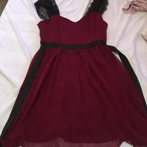 Maroon Lacey Forever 21 dress!