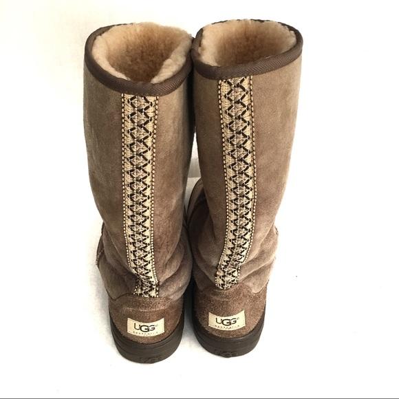 57db7d14a02 Ugg Tasman braid chestnut tall boots