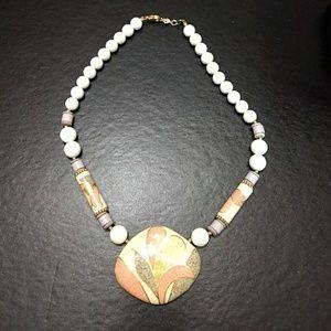 Pretty stone necklace.