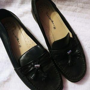 Thom Mcan Black leather Tassel loafer moccassin 8W