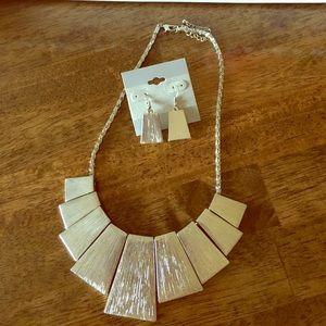 Never worn necklace and earrings