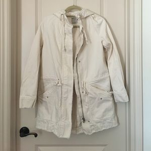 Zara white jean outerwear