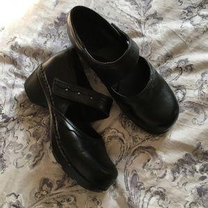 Black Mary Jane Clogs